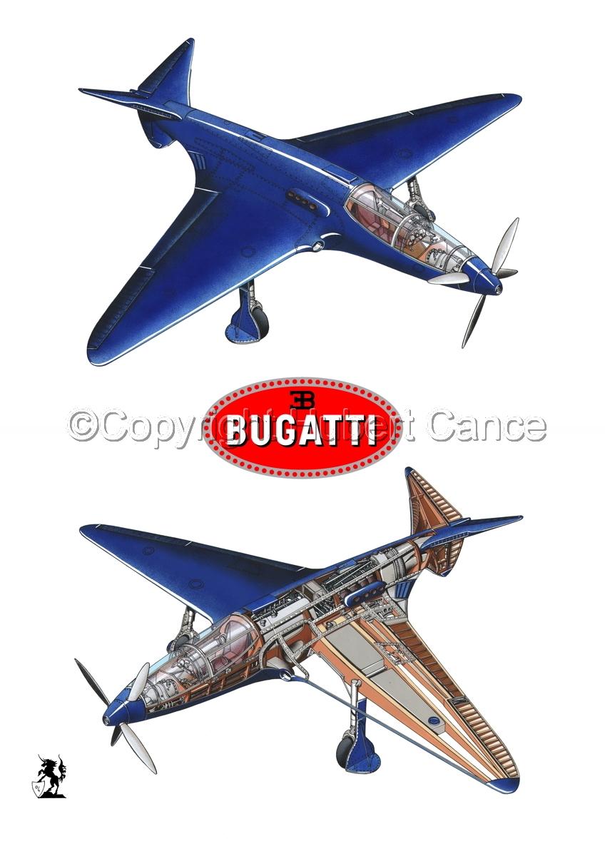 """Bugatti Racer"" 2-Views (Logos #1.1) (large view)"