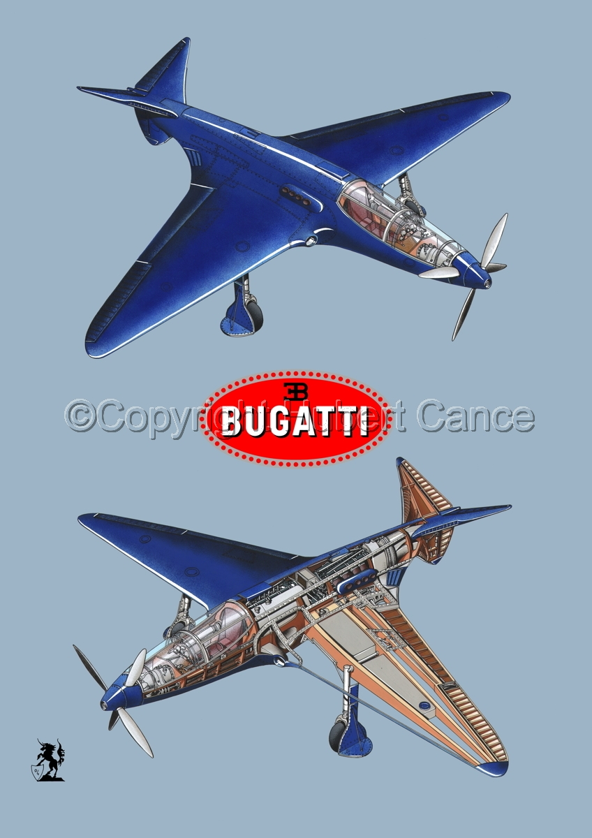 """Bugatti Racer"" 2-Views (Logos #1.2) (large view)"