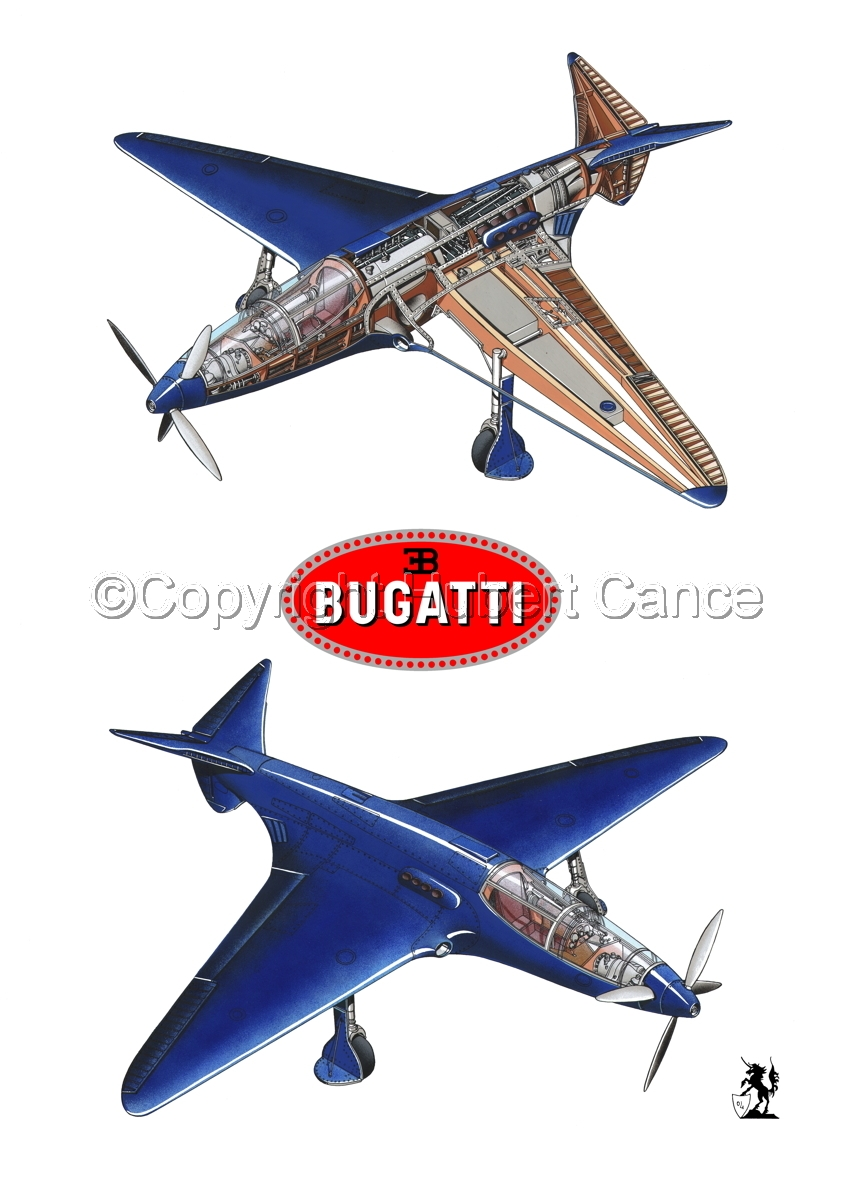 """Bugatti Racer"" 2-Views (Logos #2.1) (large view)"