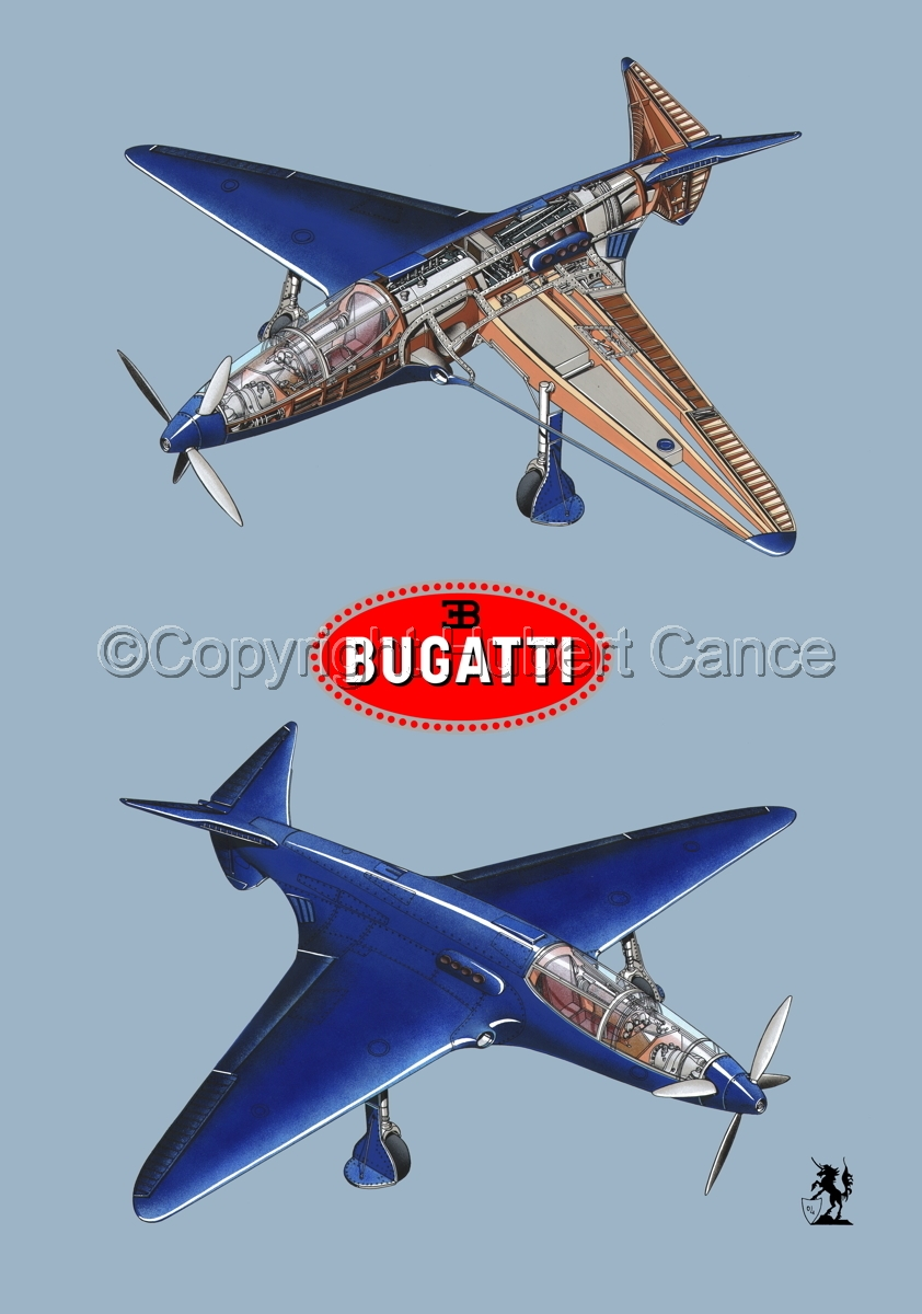 """Bugatti Racer"" 2-Views (Logos #2.2) (large view)"