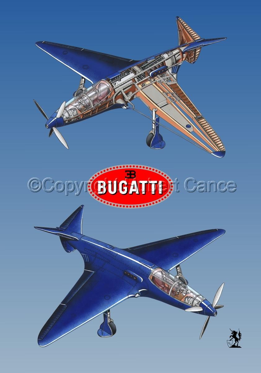 """Bugatti Racer"" 2-Views (Logos #2.3) (large view)"