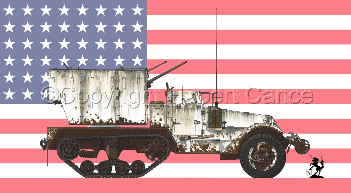 M15 MGMC Half-Track (Flag #1) (large view)