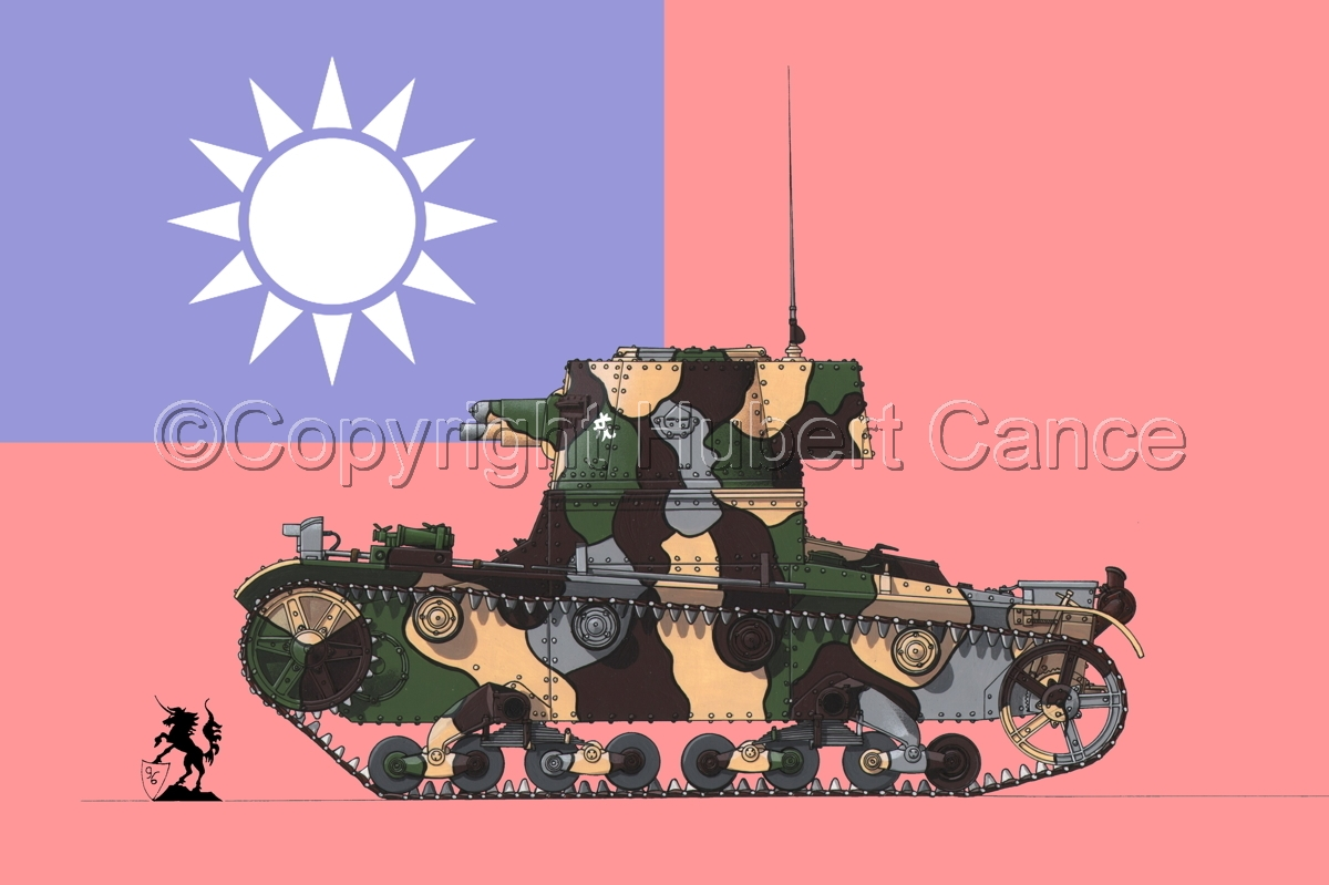 Vickers 6 Ton. Tank Model E (Flag #1) (large view)