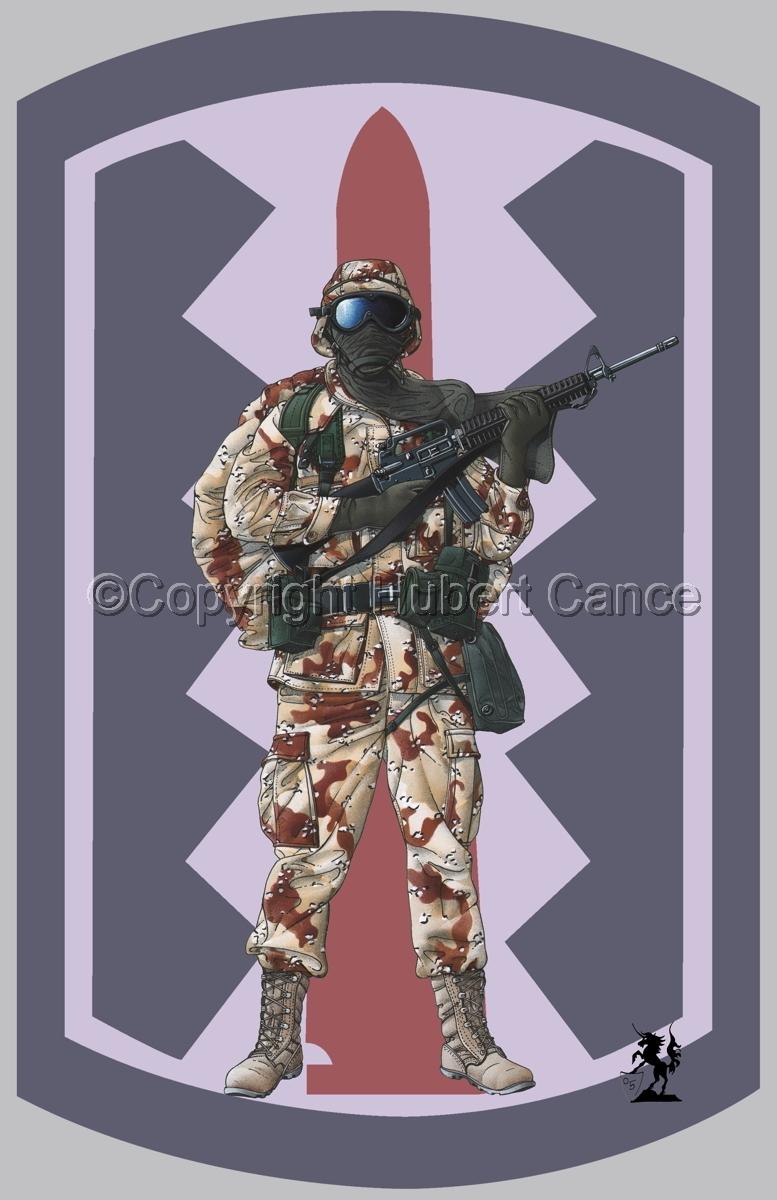 US GI in Iraq (Gulf War 1) (Insignia #4.1) (large view)