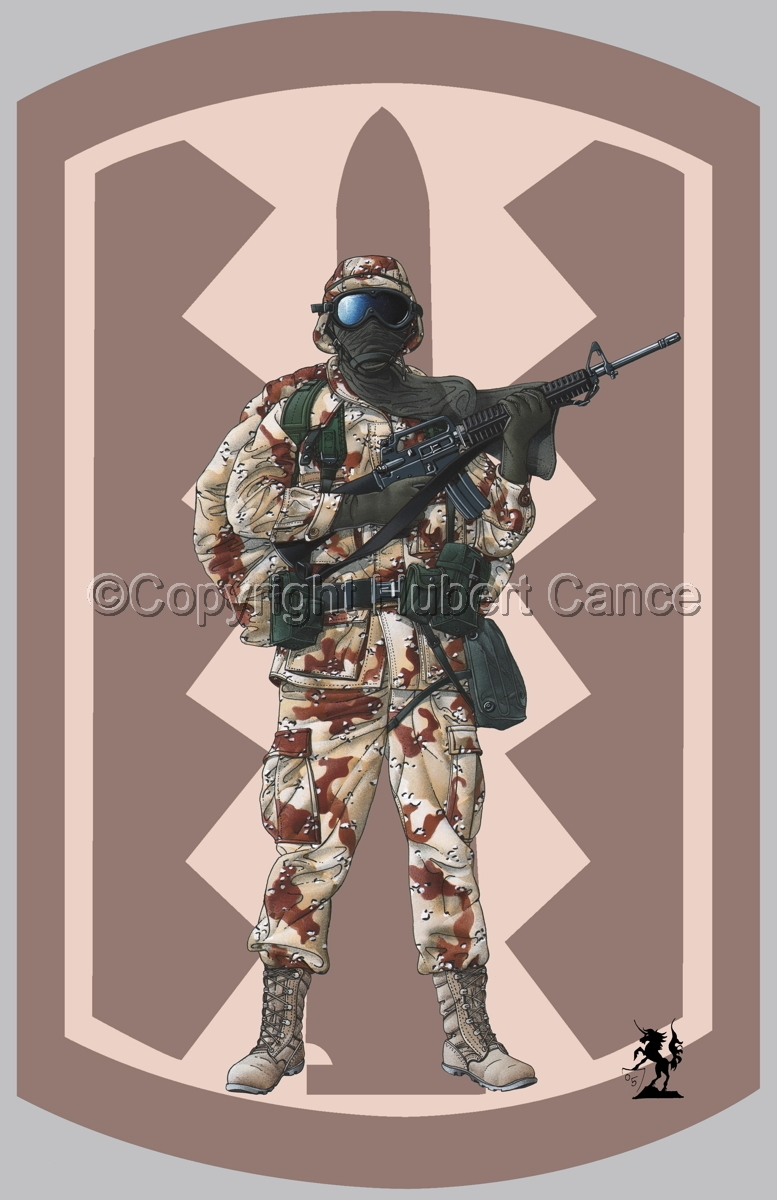 US GI in Iraq (Gulf War 1) (Insignia #4.2) (large view)