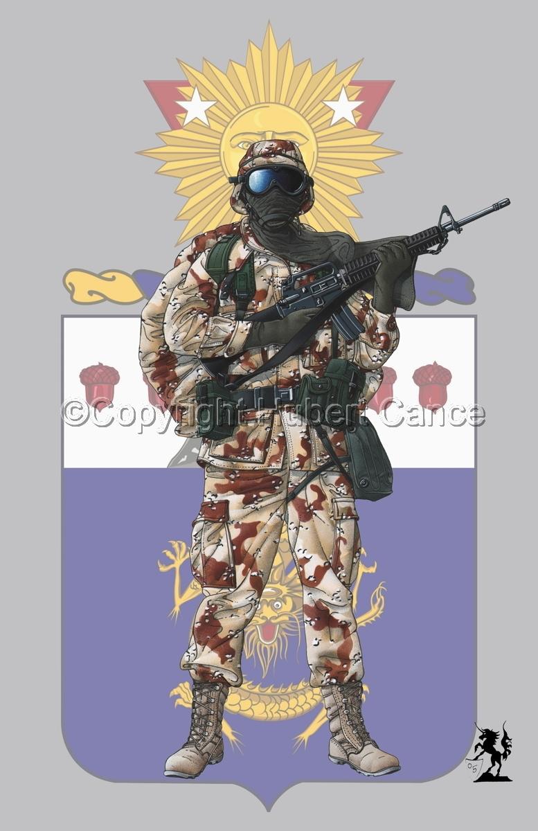 US GI in Iraq (Gulf War 1) (Insignia #5) (large view)