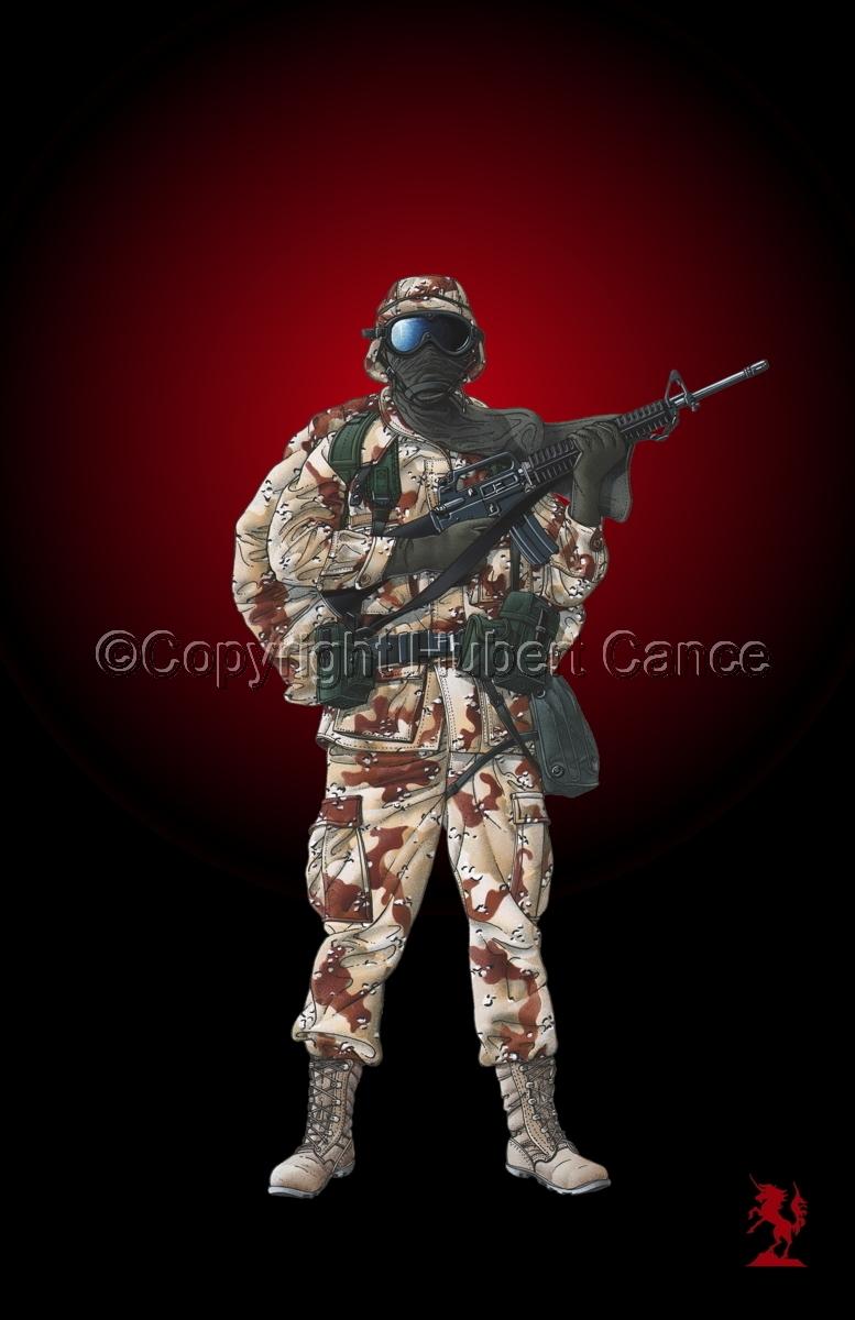 US GI in Iraq (Gulf War 1) #3 (large view)