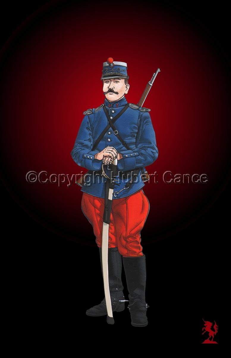 French Cavalryman, 7eme Regiment de Hussards, 1914 #3 (large view)
