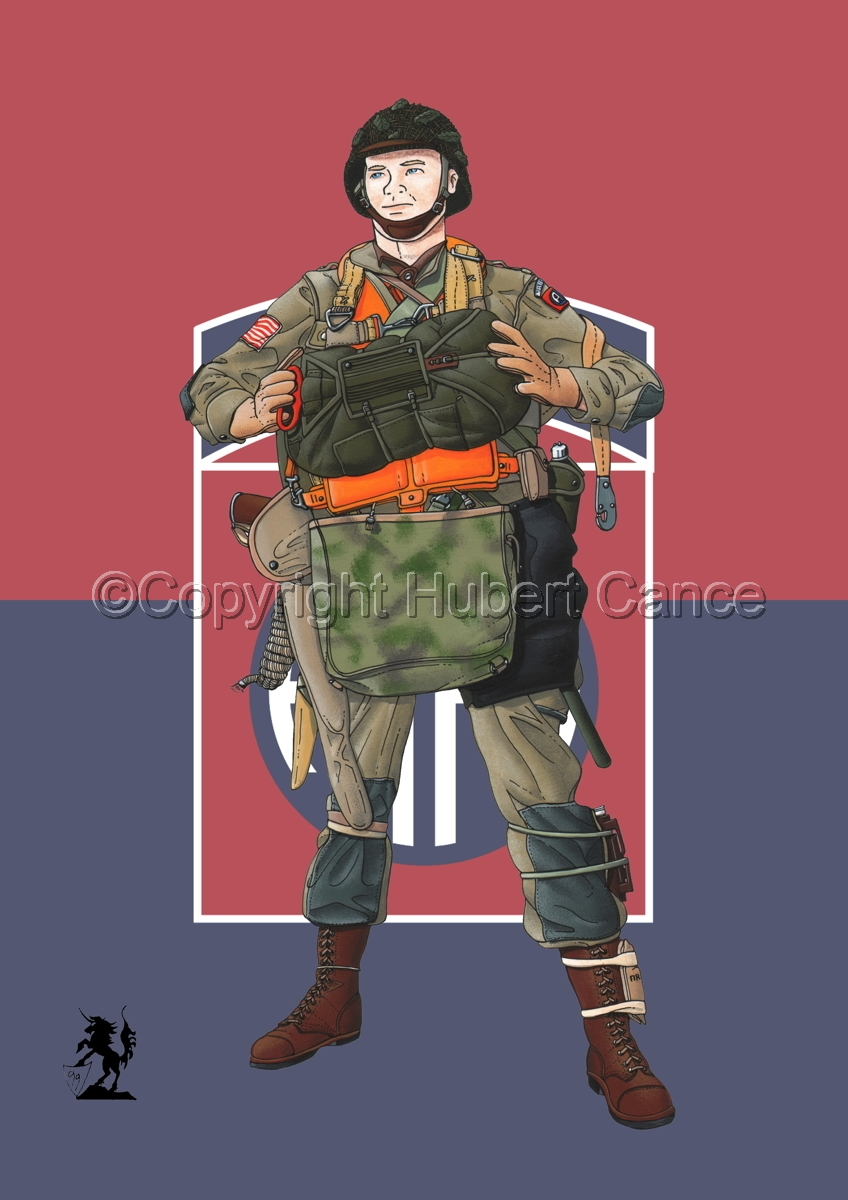 US Paratrooper (D-Day, Normandy, 1944) (Flag #5) (large view)