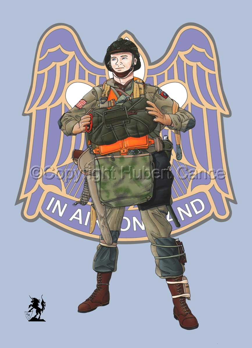 US Paratrooper (D-Day, Normandy, 1944) (Insignia #5.1) (large view)