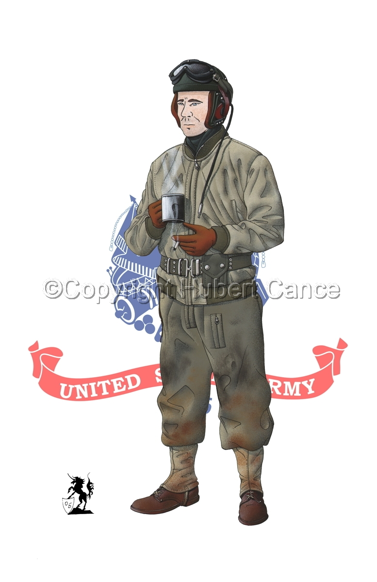 US Tank Crew, Battle of the Bulge, Ardennes, Belgium (1944) (Flag #2) (large view)