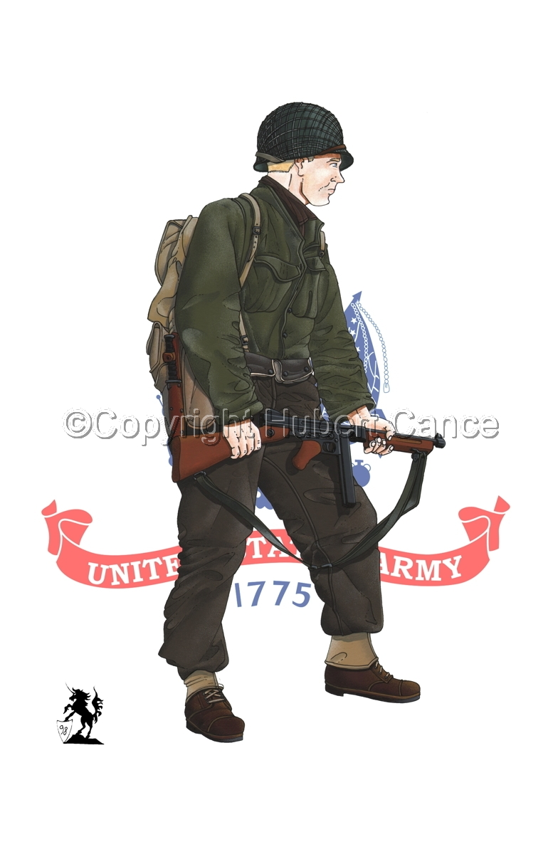 US Infantry, Normandie, France (1944) (Flag#2) (large view)
