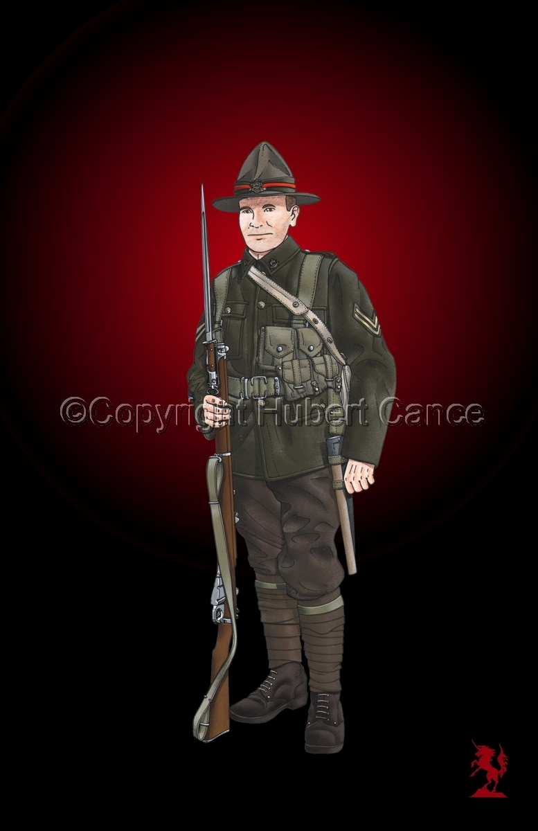 Corporal, 6th. (Hauraki) Infantry Regiment, New Zealand Rifles, France (1917) #3 (large view)