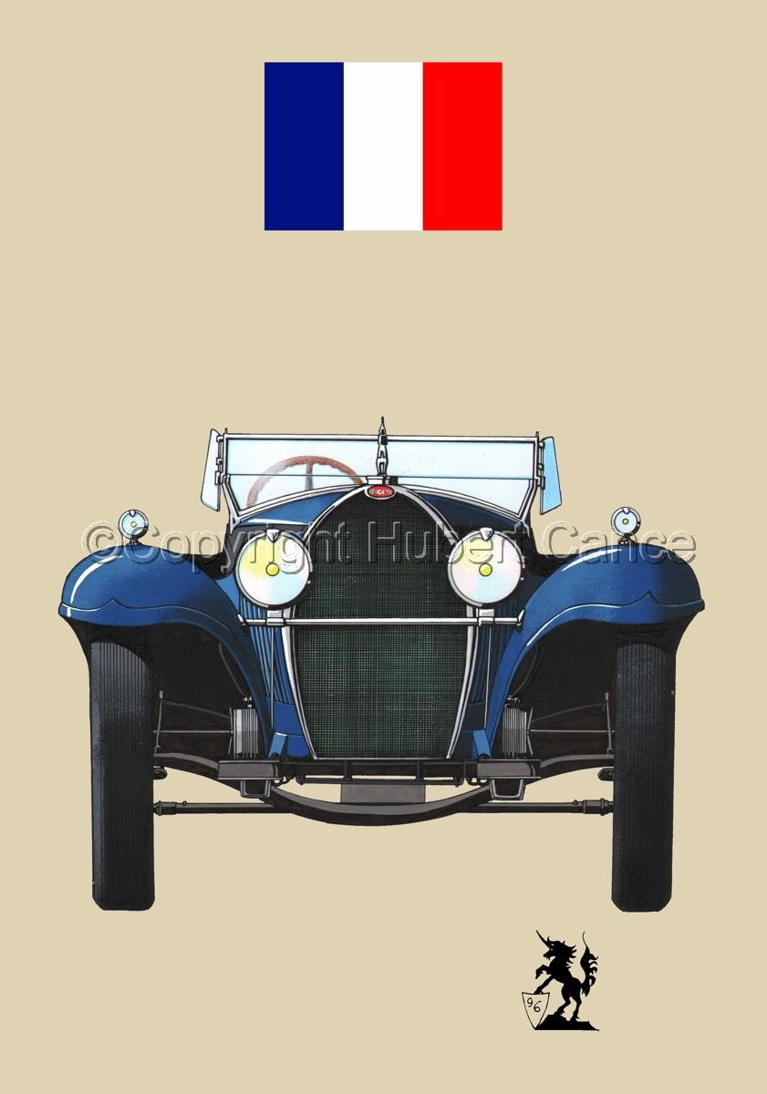 Bugatti Type 50 (Flag #1.2) (large view)