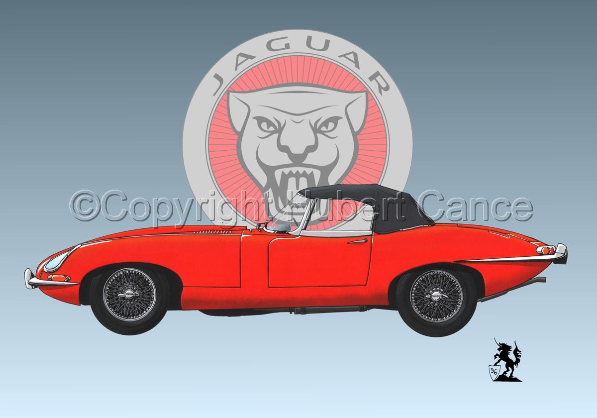 Jaguar Type E (Logo #1) (large view)