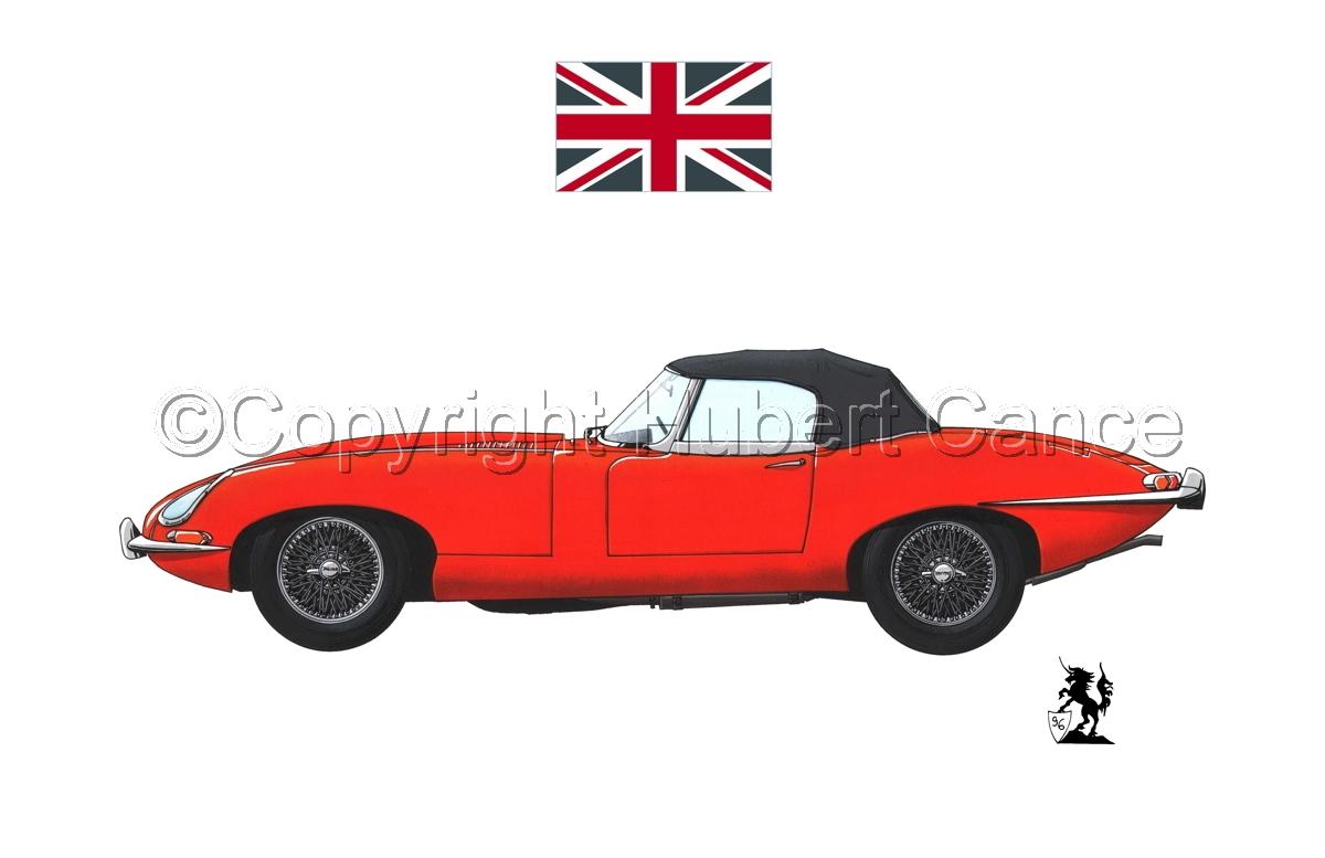 Jaguar Type E (Flag #1.1) (large view)