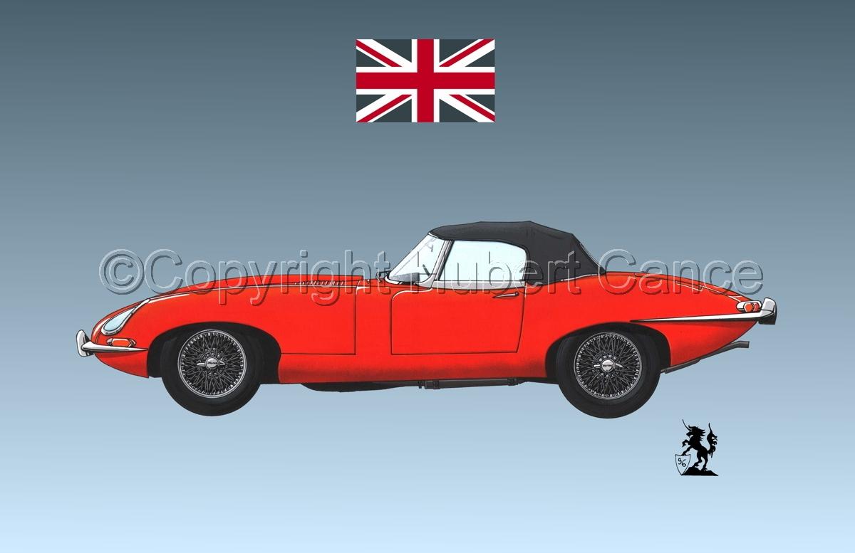 Jaguar Type E (Flag #1.3) (large view)