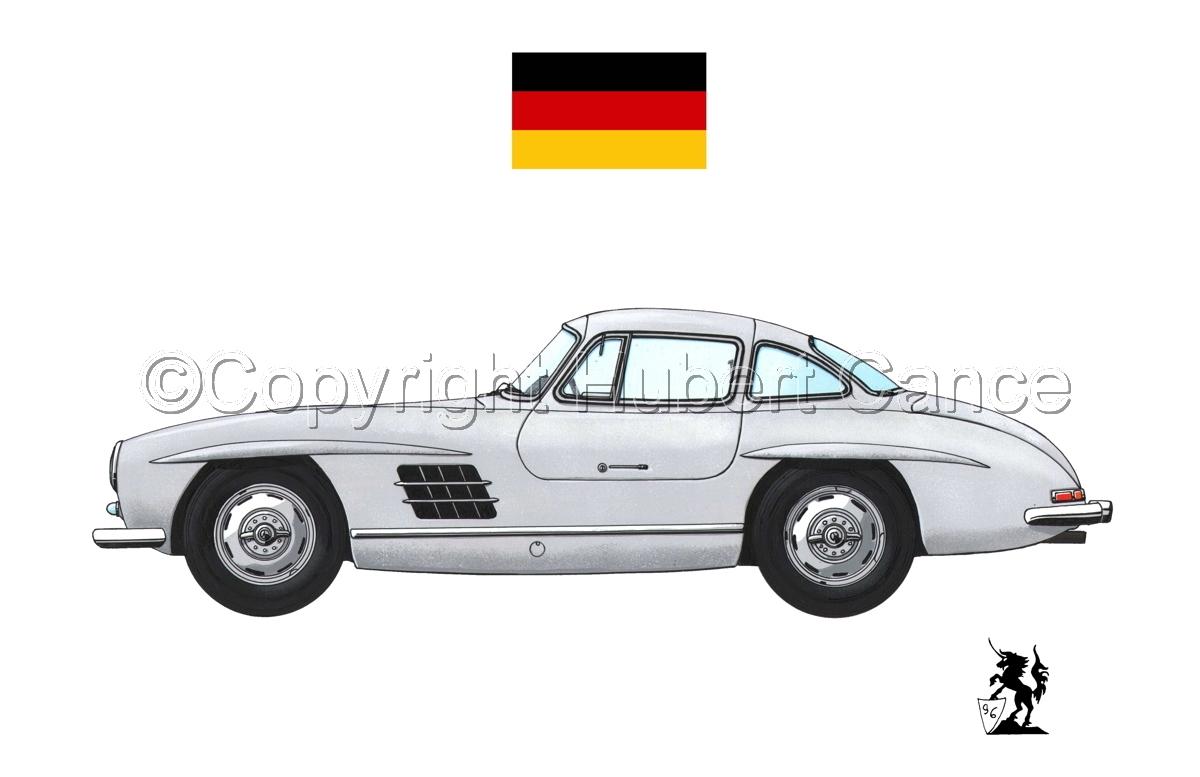 Mercedes-Benz 300SL (Flag #2.1) (large view)