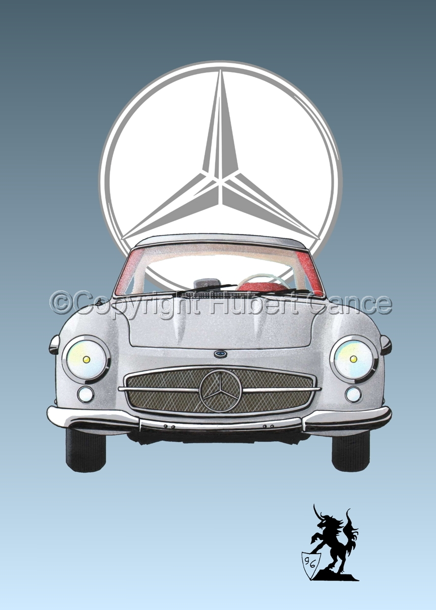 Mercedes 300SL (Logo #1) (large view)
