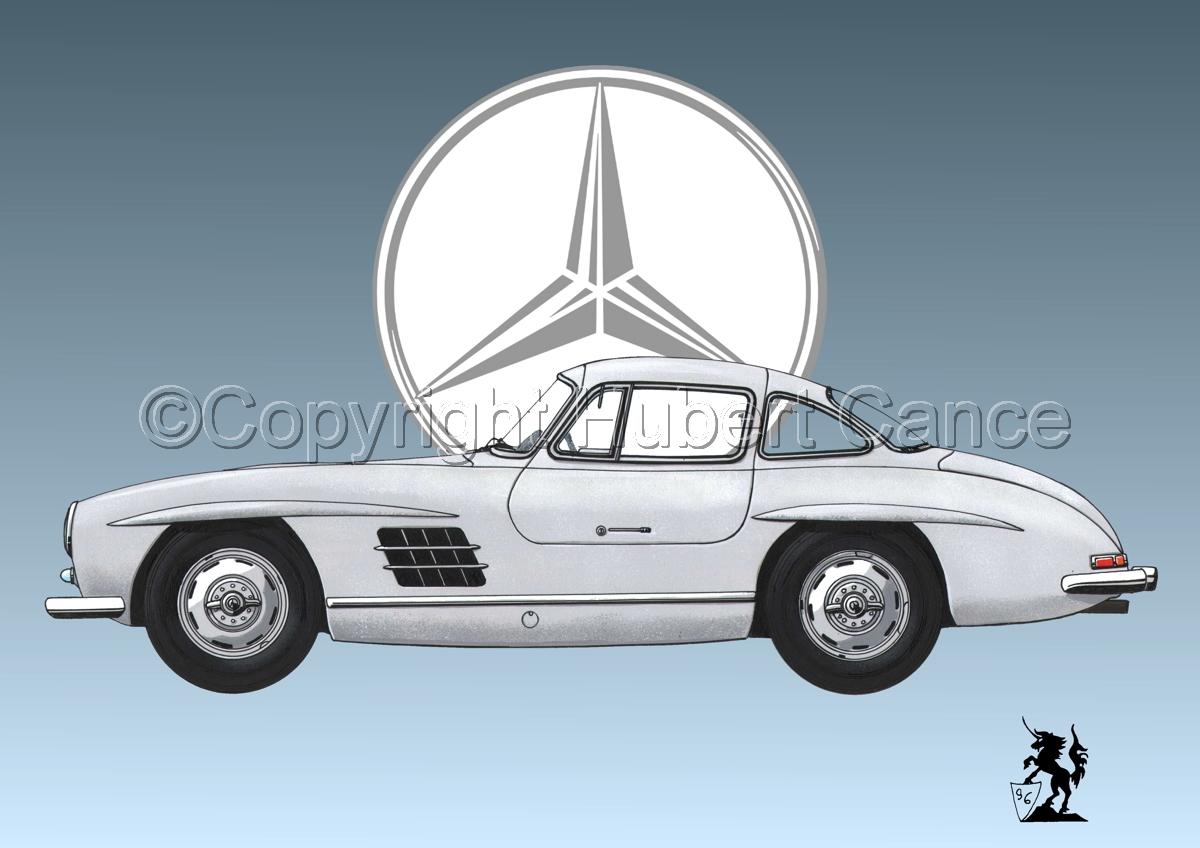 Mercedes 300SL (Logo #2) (large view)