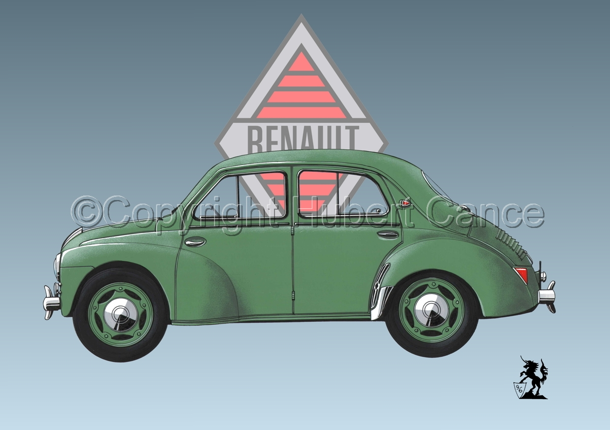 Renault 4 CV (Logo #2) (large view)