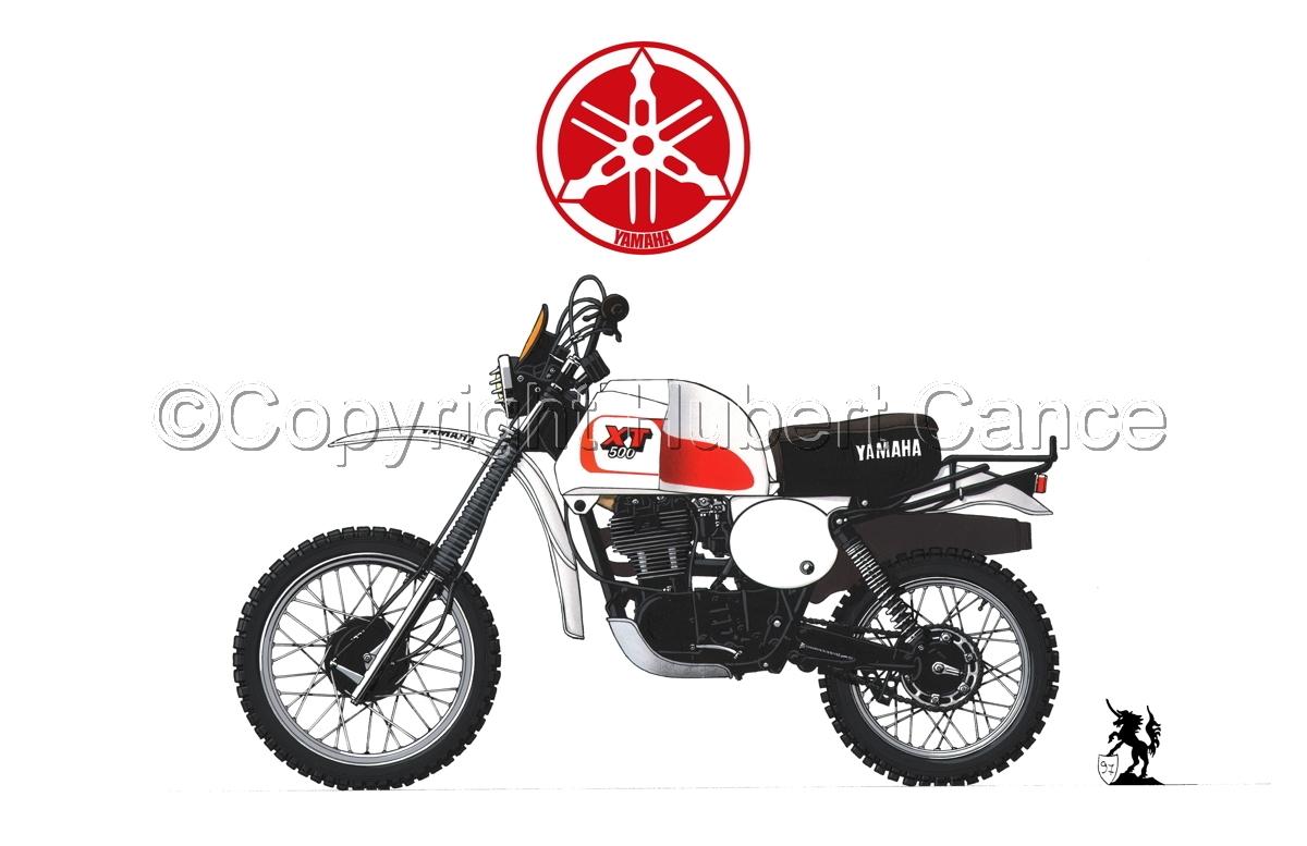 Yamaha XT500 (Logo #1.1) (large view)