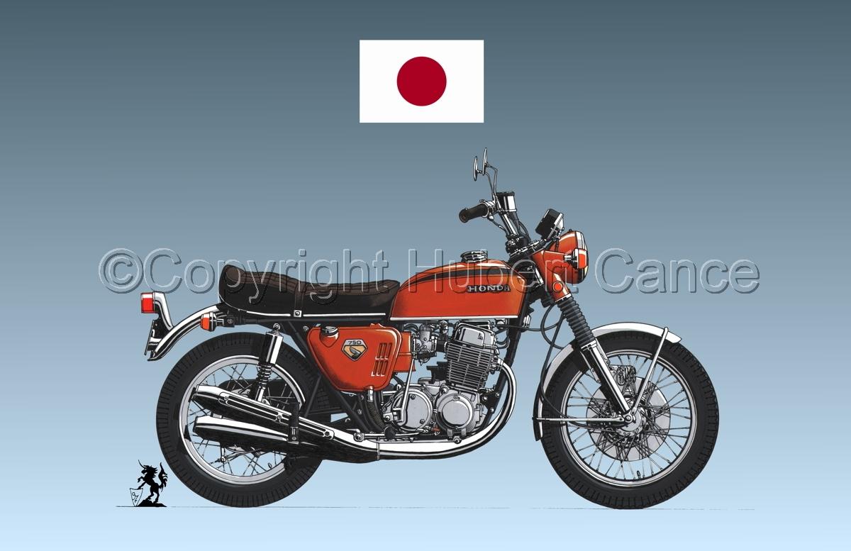 Honda CB750 Four (Flag #1.3) (large view)