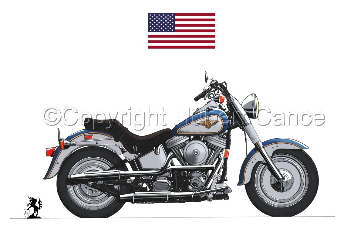 "Harley-Davidson ""Fat Boy"" (Flag #1.1) (large view)"