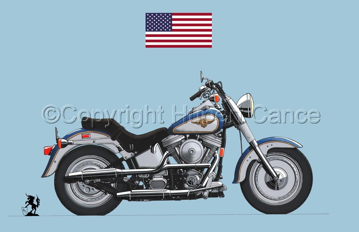 "Harley-Davidson ""Fat Boy"" (Flag #1.2) (large view)"