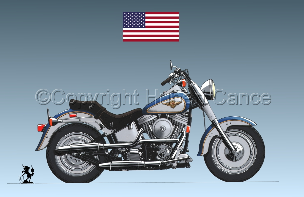 "Harley-Davidson ""Fat Boy"" (Flag #1.3) (large view)"