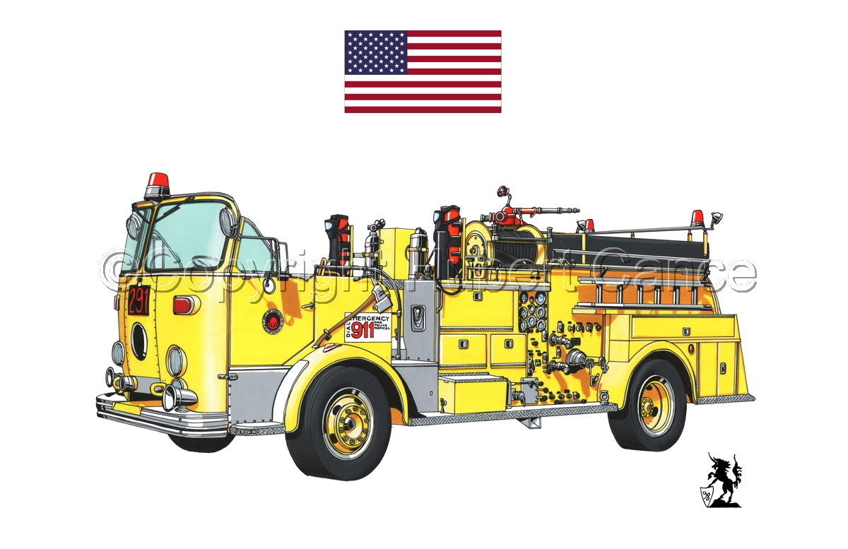 American-LaFrance Model 800 (Flag #1.1) (large view)