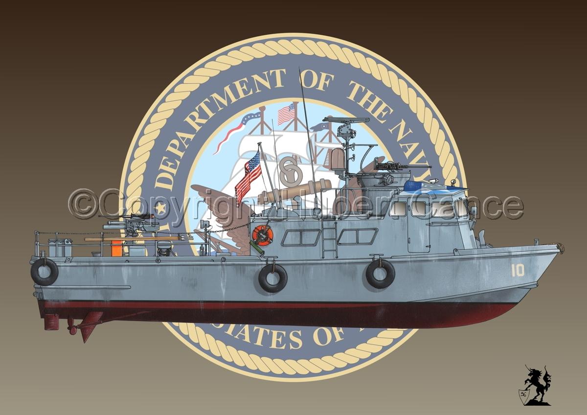 "PCF Mk.I ""Swift Boat"" (Vietnam) (Insignia #1.1) (large view)"