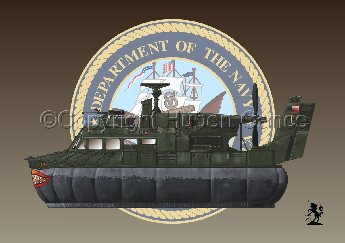 """""""Bell SK-5 """"Delta Monster"""" PACV hovercraft (Insignia #1) (large view)"""