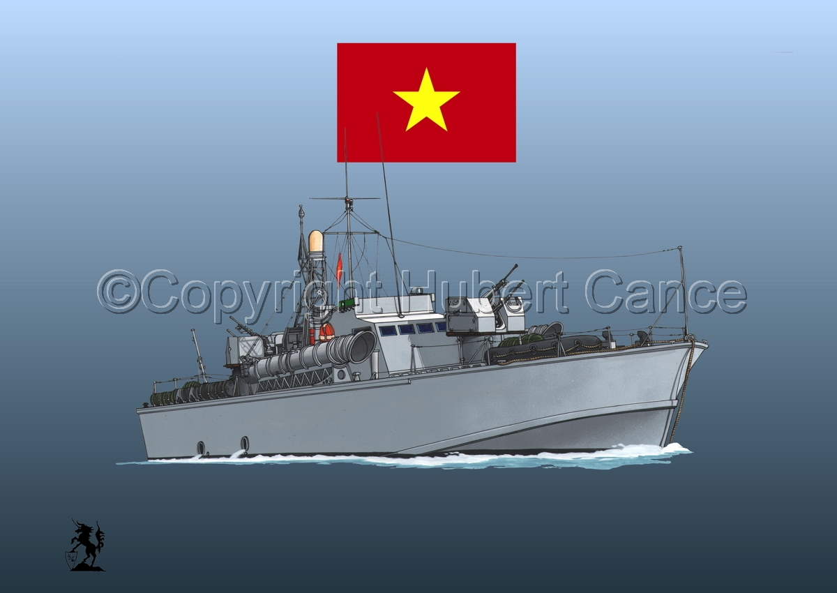 North Vietnamese P6 Torpedo Boat (Flag #1.3) (large view)