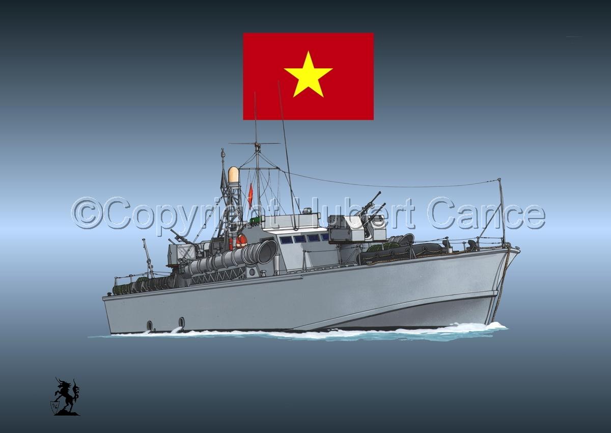 North Vietnamese P6 Torpedo Boat (Flag #1.4) (large view)