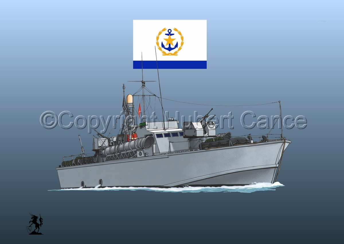North Vietnamese P6 Torpedo Boat (Flag #2.3) (large view)