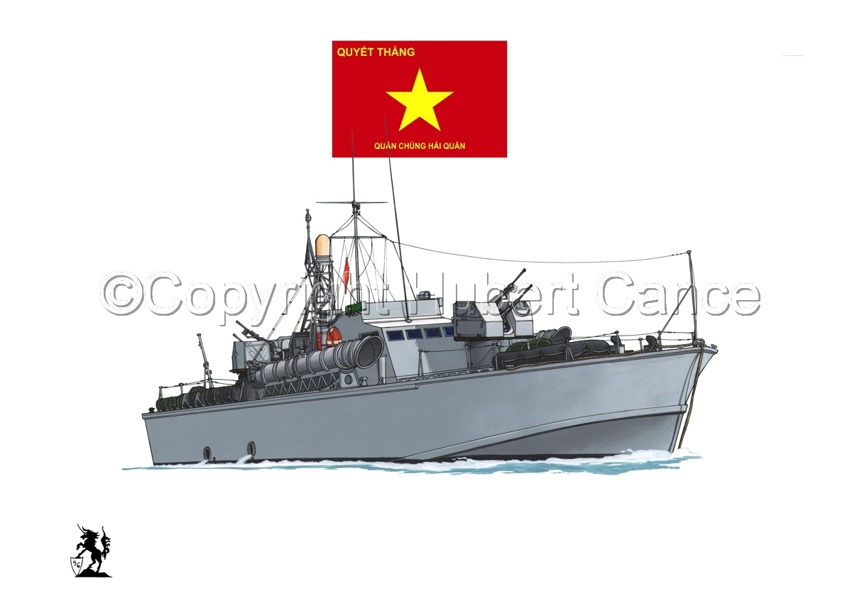 North Vietnamese P6 Torpedo Boat (Flag #3.1) (large view)