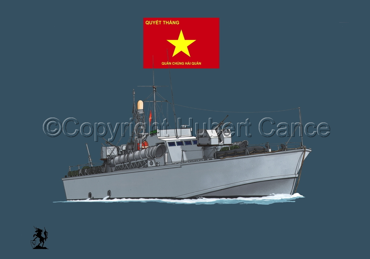 North Vietnamese P6 Torpedo Boat (Flag #3.2) (large view)