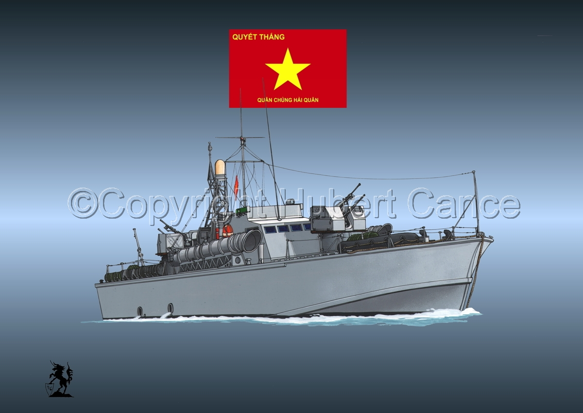 North Vietnamese P6 Torpedo Boat (Flag #3.4) (large view)