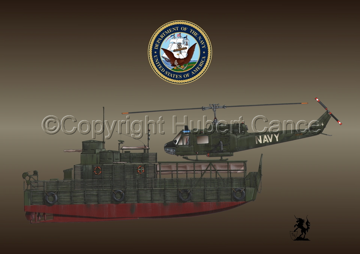 "ATC(H) and Bell UH-1B ""Huey"" Helicopter (Insignia #1.4) (large view)"