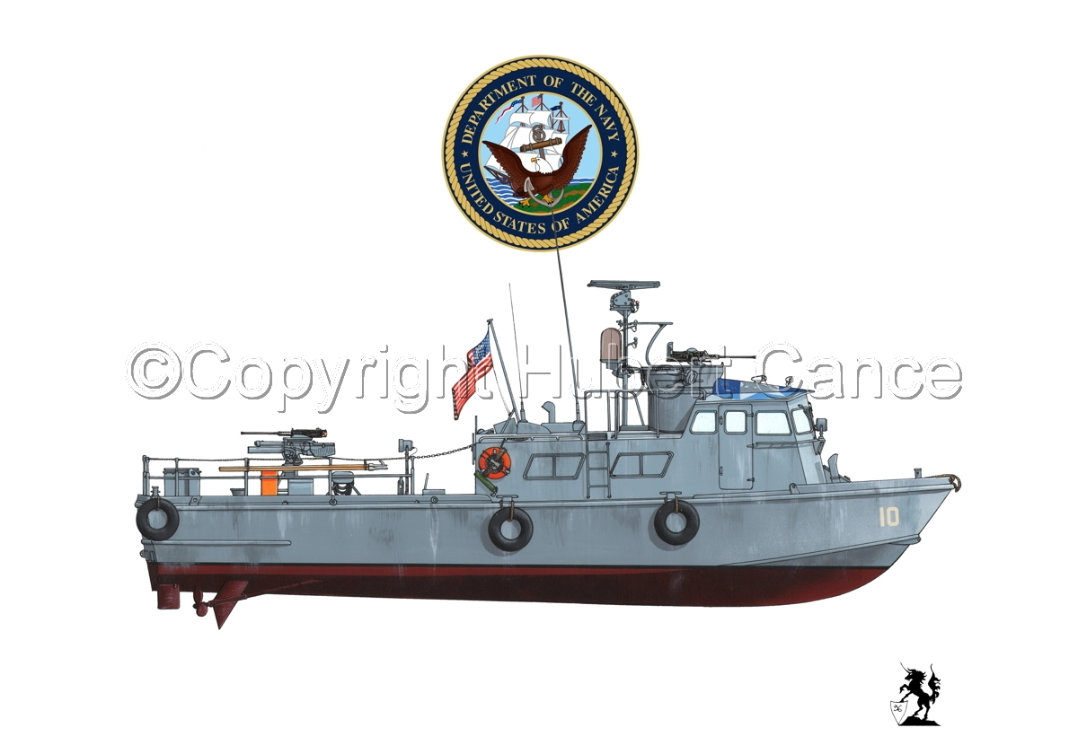 "PCF Mk.I ""Swift Boat"" (Vietnam) (Insignia #1.1.1) (large view)"