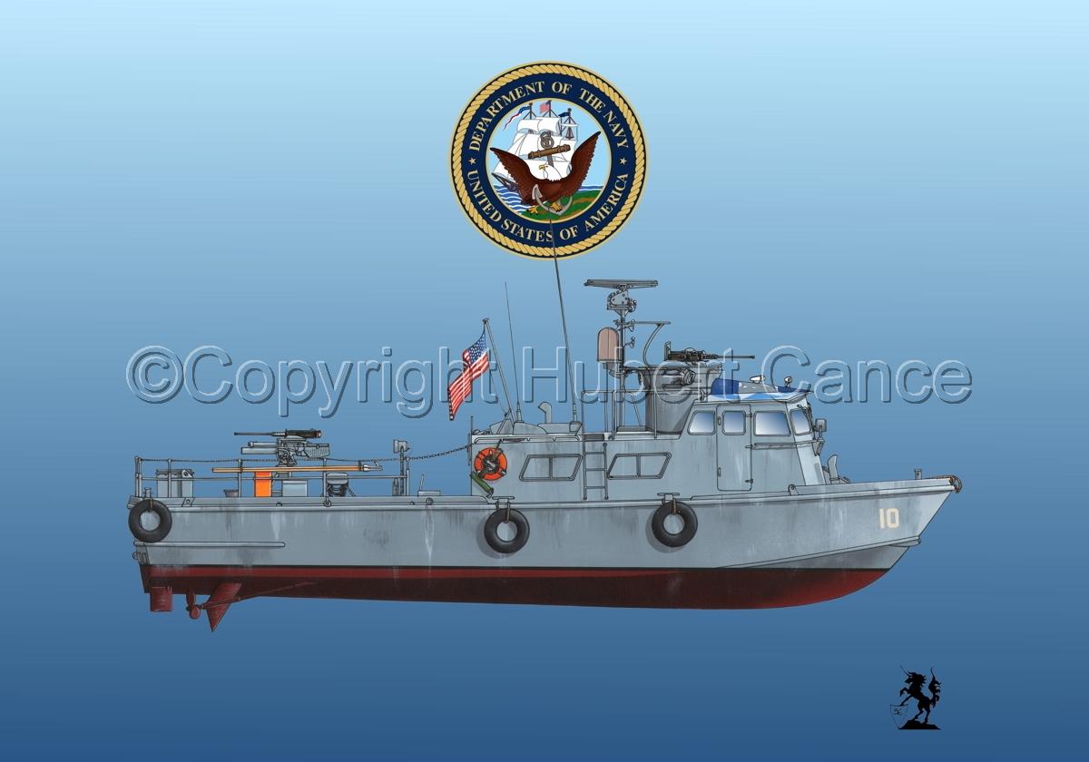"PCF Mk.I ""Swift Boat"" (Vietnam) (Insignia #1.2.3) (large view)"