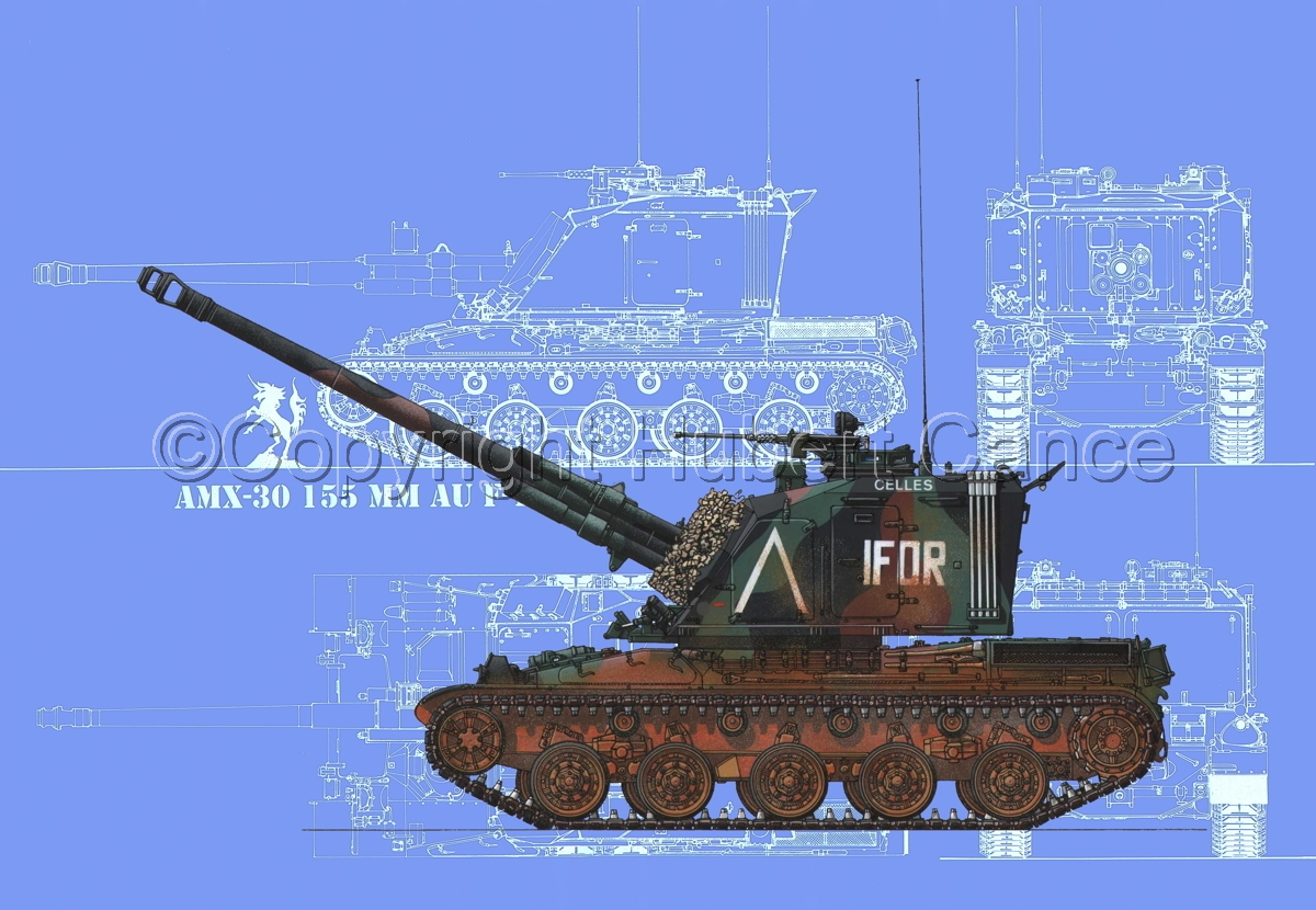 AMX 30 GCT 155 AUF-1 (Blueprint #2) (large view)