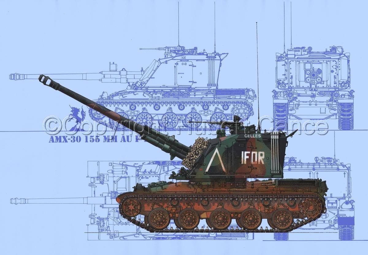 AMX 30 GCT 155 AUF-1 (Blueprint #1) (large view)