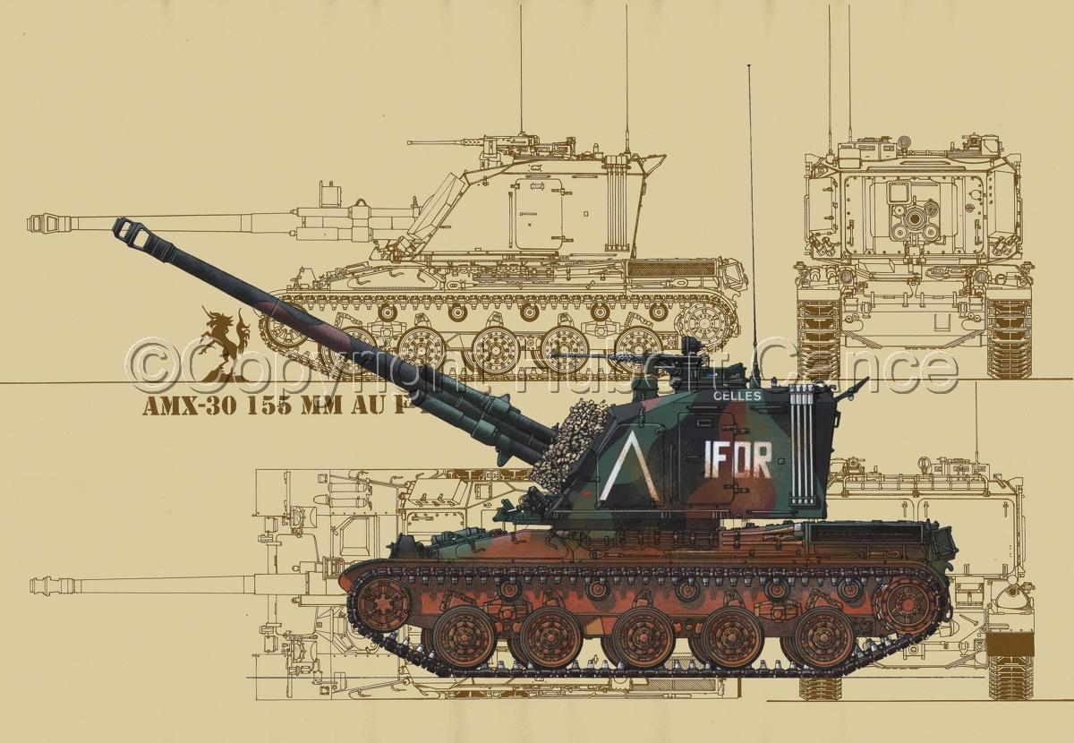AMX 30 GCT 155 AUF-1 (Blueprint #5) (large view)