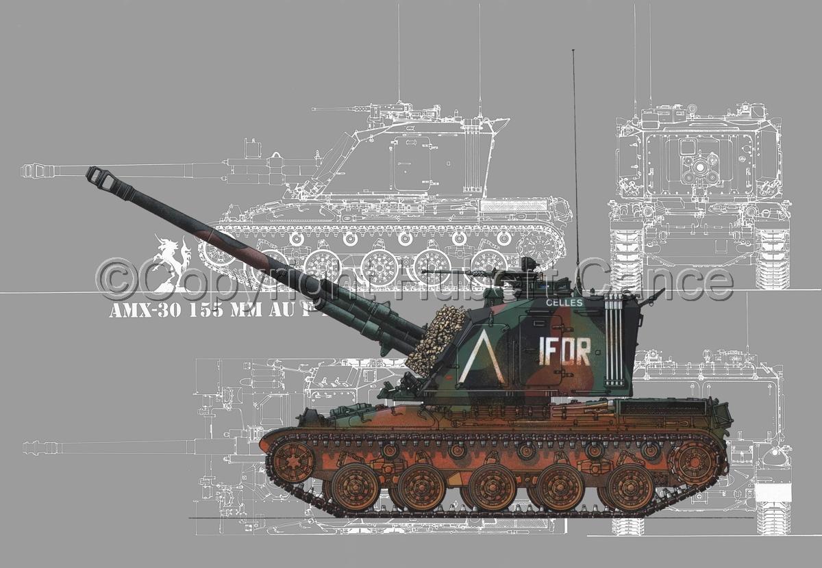 AMX 30 GCT 155 AUF-1 (Blueprint #4) (large view)