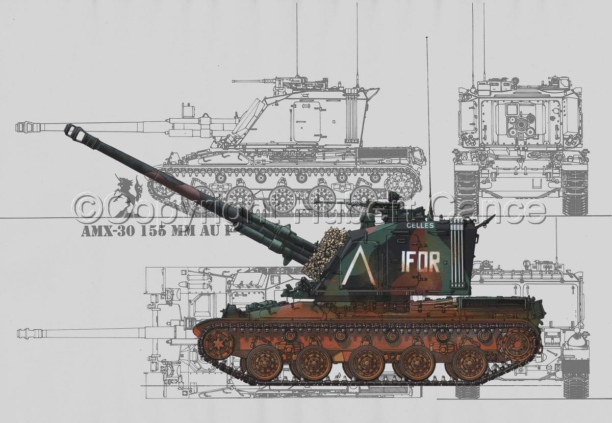 AMX 30 GCT 155 AUF-1 (Blueprint #3) (large view)