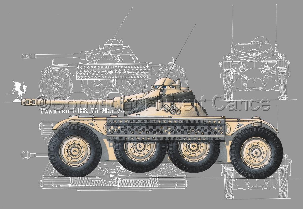 Panhard EBR modèle 1954 (Blueprint #4) (large view)