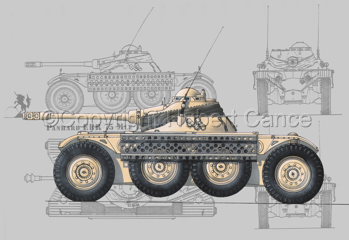 Panhard EBR modèle 1954 (Blueprint #3) (large view)