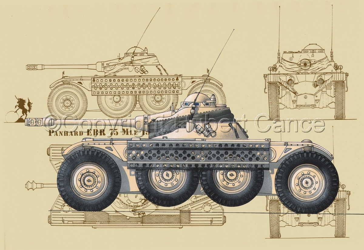 Panhard EBR modèle 1954 (Blueprint #5) (large view)
